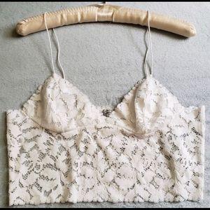 NWOTs Free people lace crop top